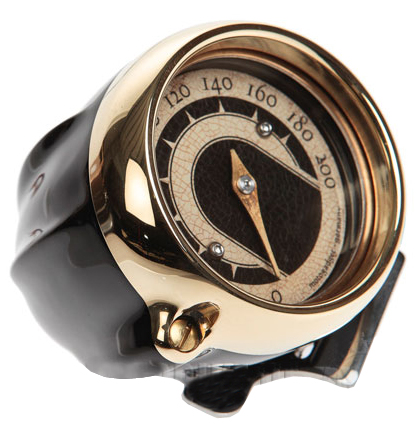 speedo housing ring for mini speedometers black – brass ring