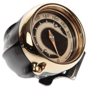 speedo housing ring for mini speedometers black – brass ring