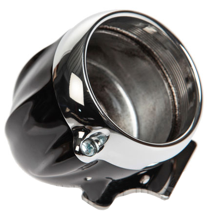speedo housing ring for mini speedometers black – polished ring