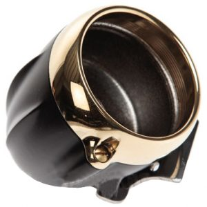 speedo housing ring for mini speedometers flat black – brass ring