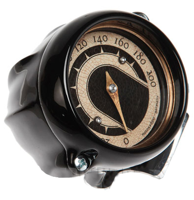 speedo housing ring for mini speedometers flat black – flat black ring