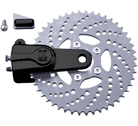 sprocket rotor kit drilled 51 tooth black - left or right side drive