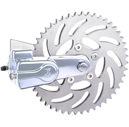 sprocket rotor kit slotted 51 tooth polished - left or right side drive