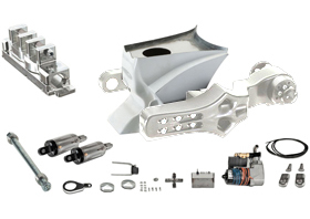 swingarm single-sided, gas tank, air ride shocks complete kit for 2007-up VRSC models - polished