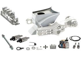 swingarm single-sided, gas tank, air ride shocks complete kit for 2007-up VRSC models - polished