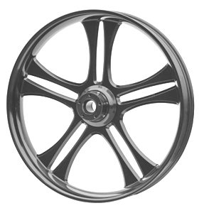 wheel daytona 26x3.75 glossy flat powder coated - dual flange