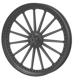 wheel spoke 26×3.75 flat black powder coated – dual flange