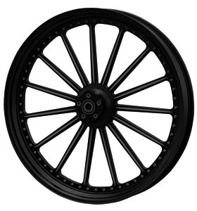 wheel spoke 26×3.75 glossy black powder coated – dual flange