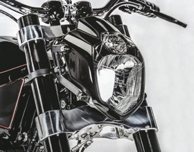 Streetfighter Custom Motorcycle Headlight