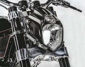 Streetfighter Custom Motorcycle Headlight