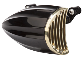 aircleaner cover juicer for sportster engines 1991-2015 black – brass grill