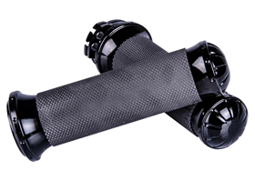 black grips with rubber inserts