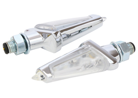 turn signals LED venom chromed – clear lens
