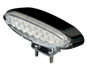 clear ice taillight with black housing