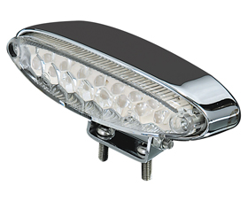 clear ice taillight with chromed housing