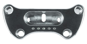 polished top riser clamp for micro digital speedo