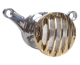 velocity stack grill polished and brass