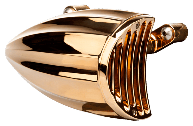 Motorcycle Air Cleaner Covers : Karat gold plated motorcycle air cleaner cover