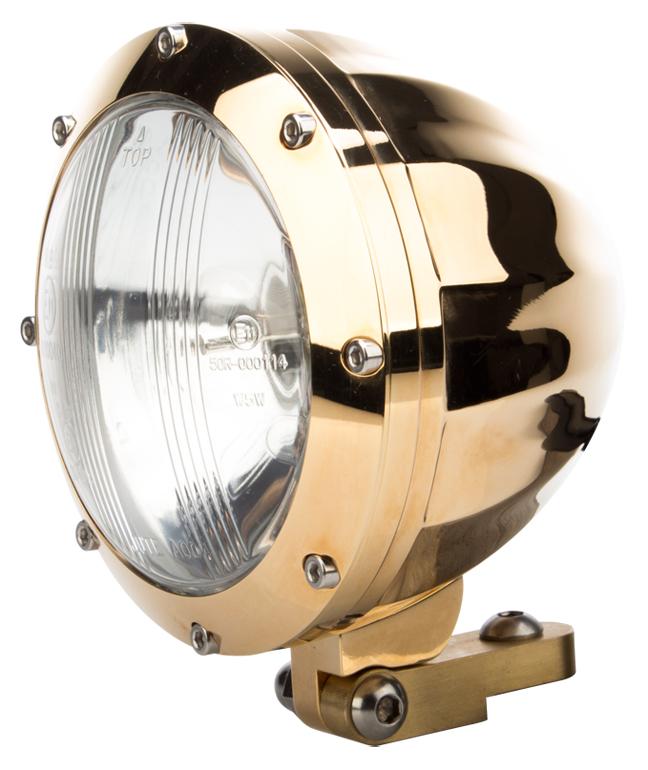 24 karat gold motorcycle headlight