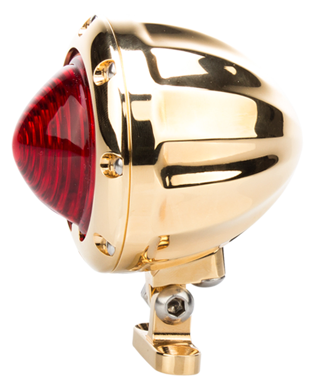 24 karat gold tail light for motorcycles