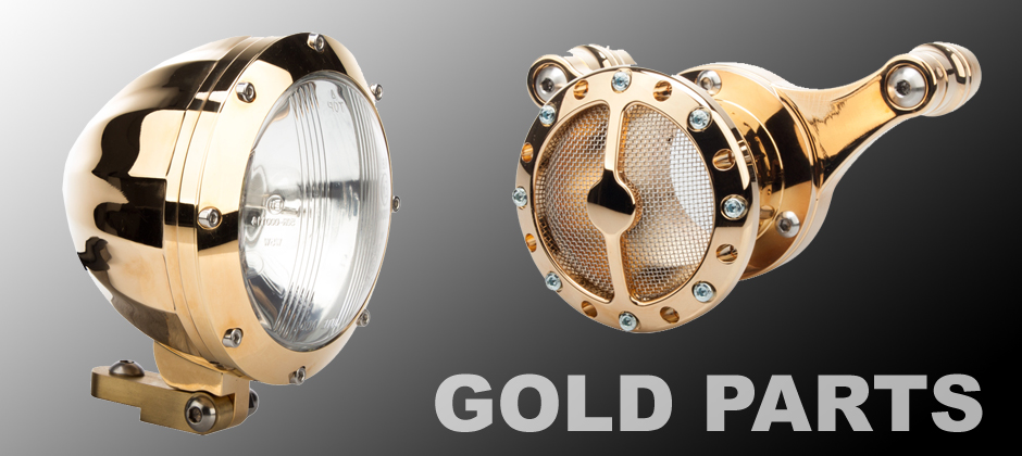 Gold Motorcycle Parts
