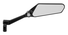 mirror blade black right for harleys
