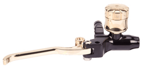 hand controls custom brake master cylinder 9/16″ – black and brass