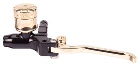 hand controls custom hydraulic clutch master cylinder – black and brass
