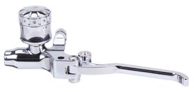 hand controls custom hydraulic clutch master cylinder – polished