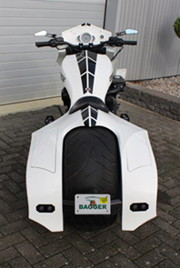 Bagger Rear Fender with Integrated Saddle Bags for V-Rod's