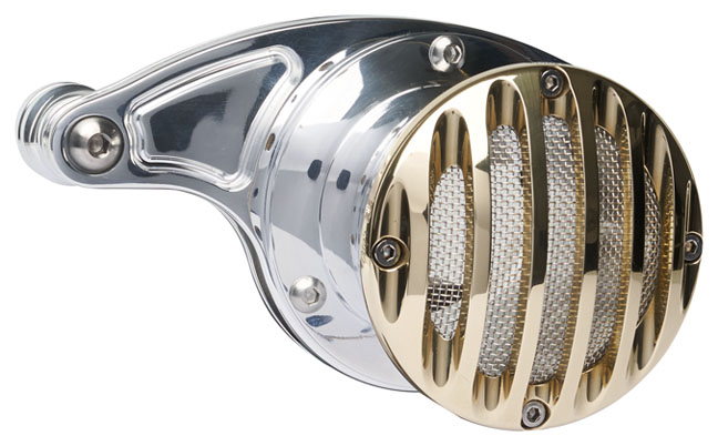 velocity stack grill for milwaukee 8 engine polished – brass grill