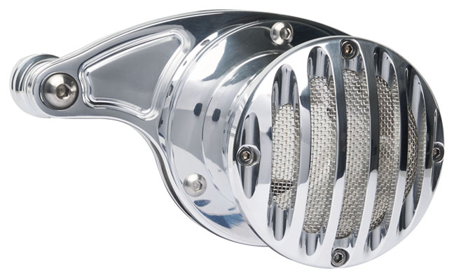 velocity stack grill for milwaukee 8 engine polished – polished grill