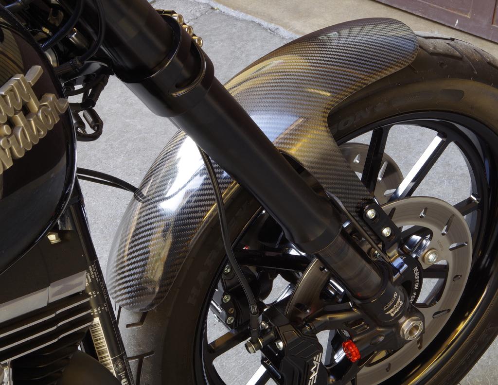 carbon fiber front fender for Öhlins fork 2