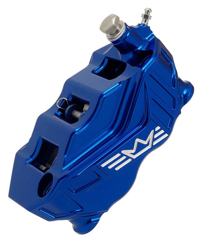 4-piston radial brake caliper RR108 right – blue