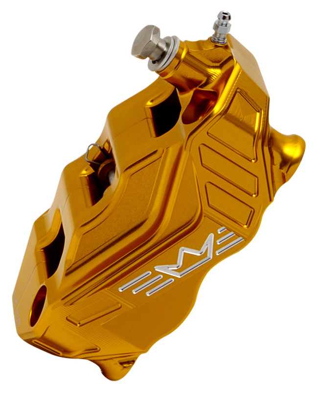 4-piston radial brake caliper RR108 right – gold