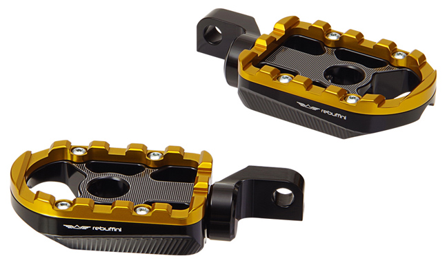 footpegs wheelie for rider on 2008-11 FXS / FXSB / FXCW – 2007-19 XL833 / XL1200 – gold
