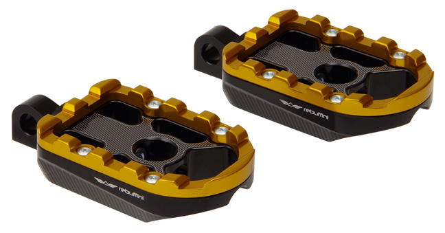 footpegs wheelie for rider or passenger – gold