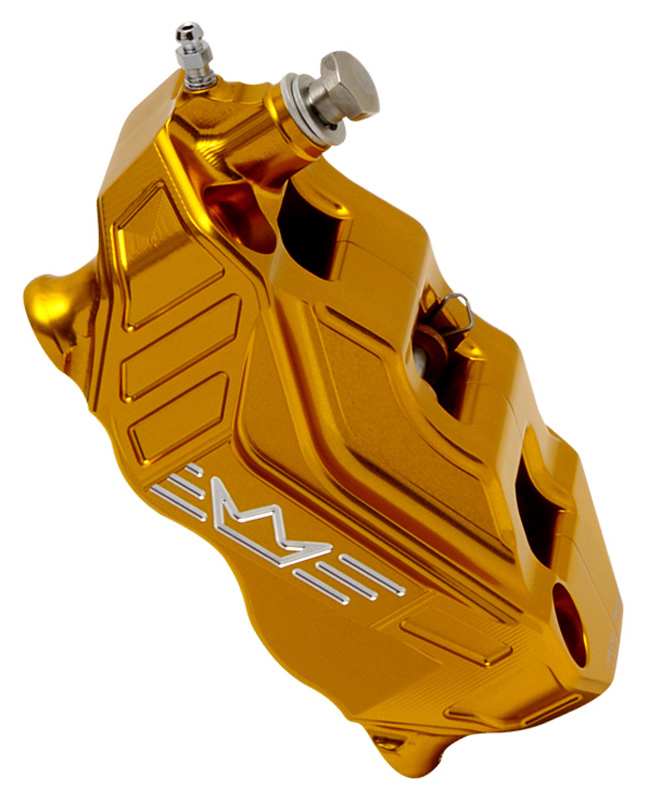 4-piston radial brake caliper RR108 left – gold