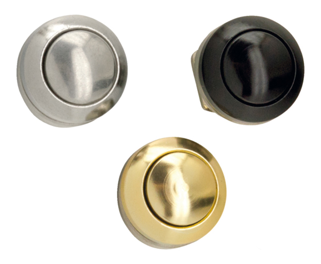 motorcycle push button polished black gold