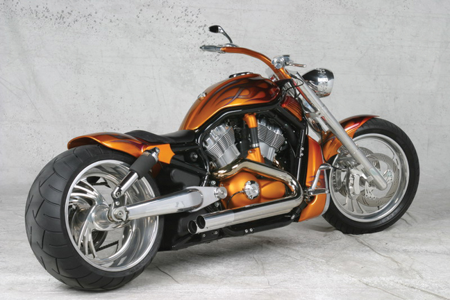 Orange Custom V-Rod