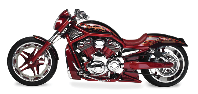 red custom v rod_3