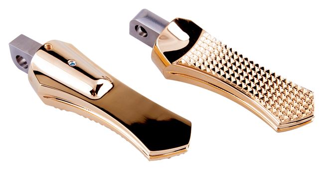 24 Karat gold plated Diamond footpegs