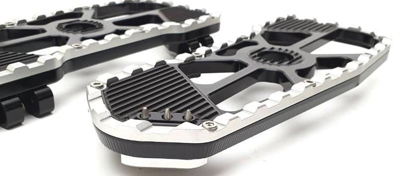 harley bagger floorboards silver