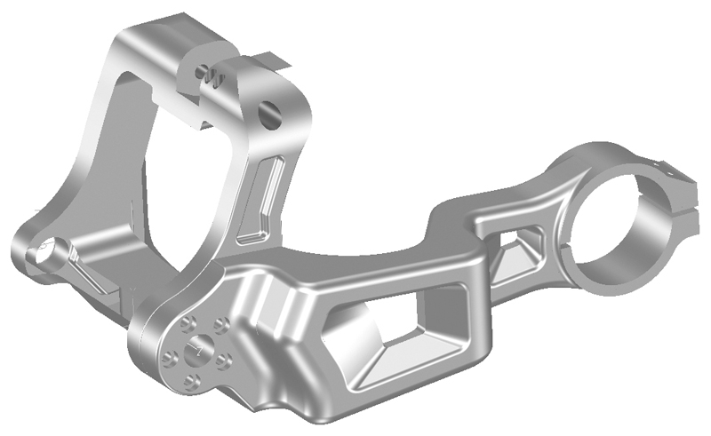 swingarm M8 single sided with drive side brake system for 280 tires for milwaukee eight models polished