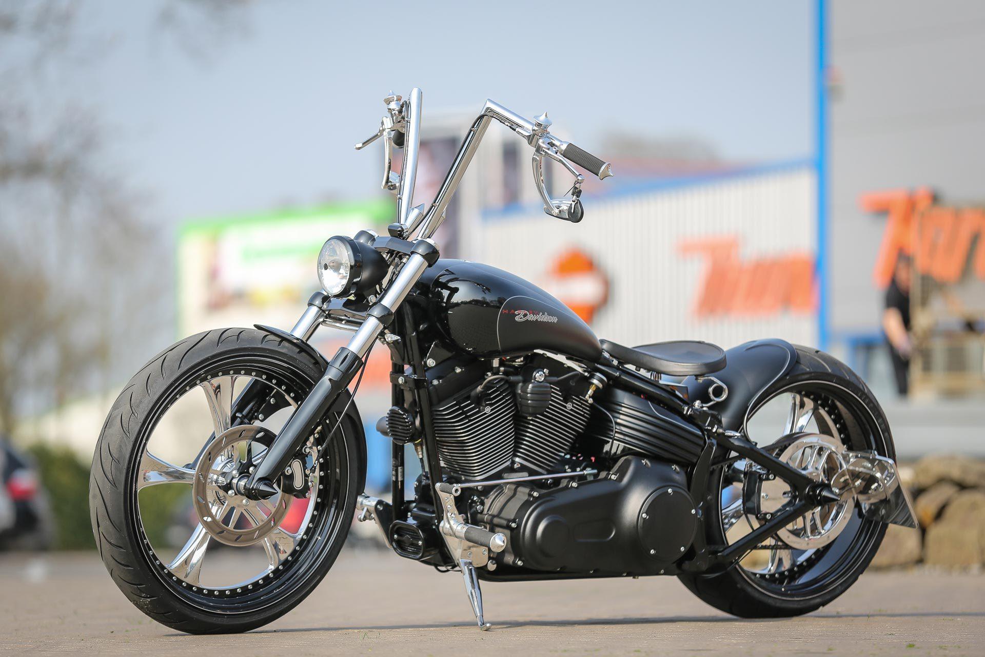 Black Custom Harley Rocker C