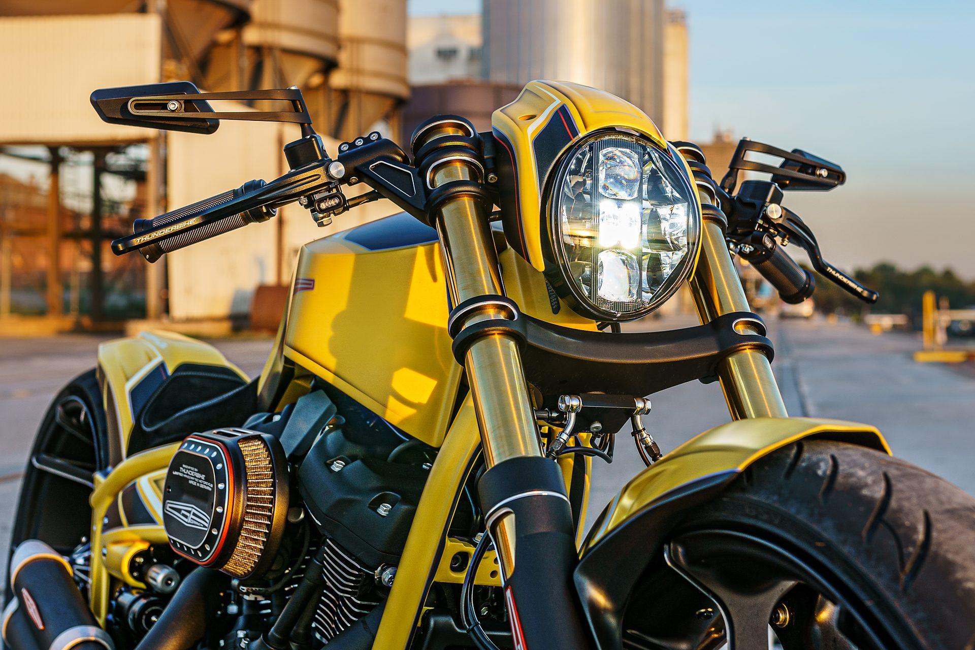 Yellow 2021 Milwaukee Eight Breakout