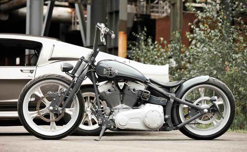 harley rocker custom motorcycle