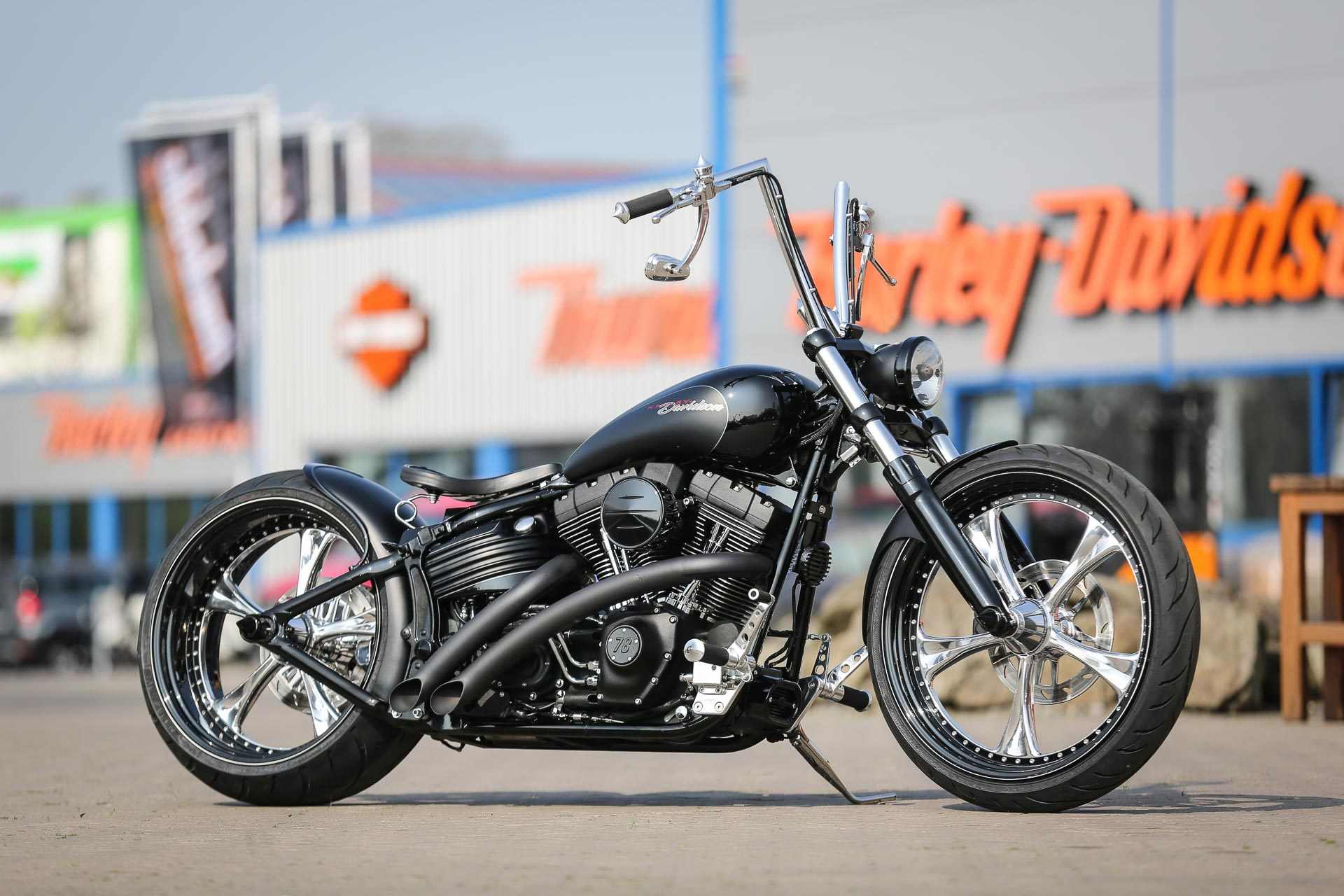 wide tire kits for harley rockers